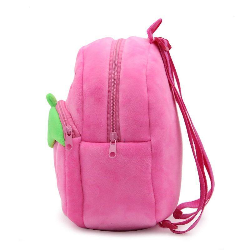 Велюровый рюкзак «Клубника», розовый