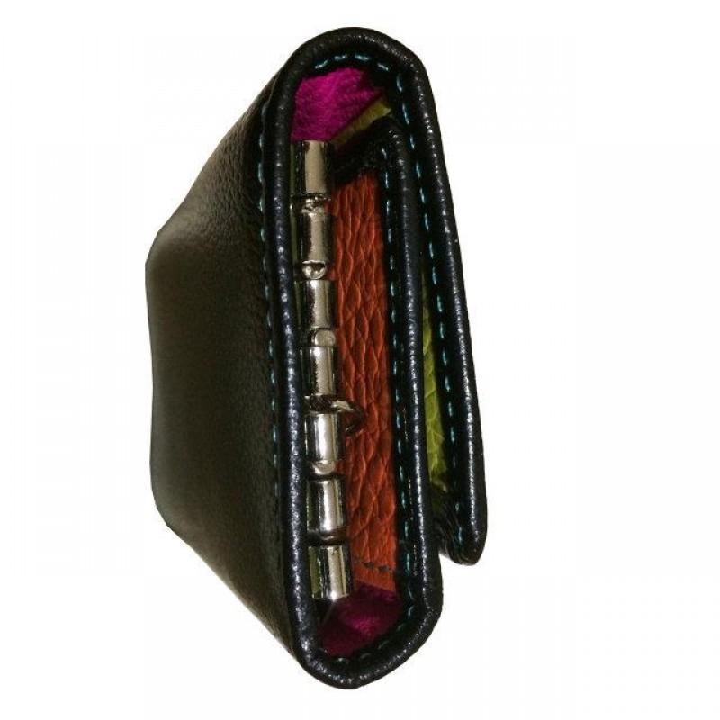Женская кожаная ключница WKR-2 black