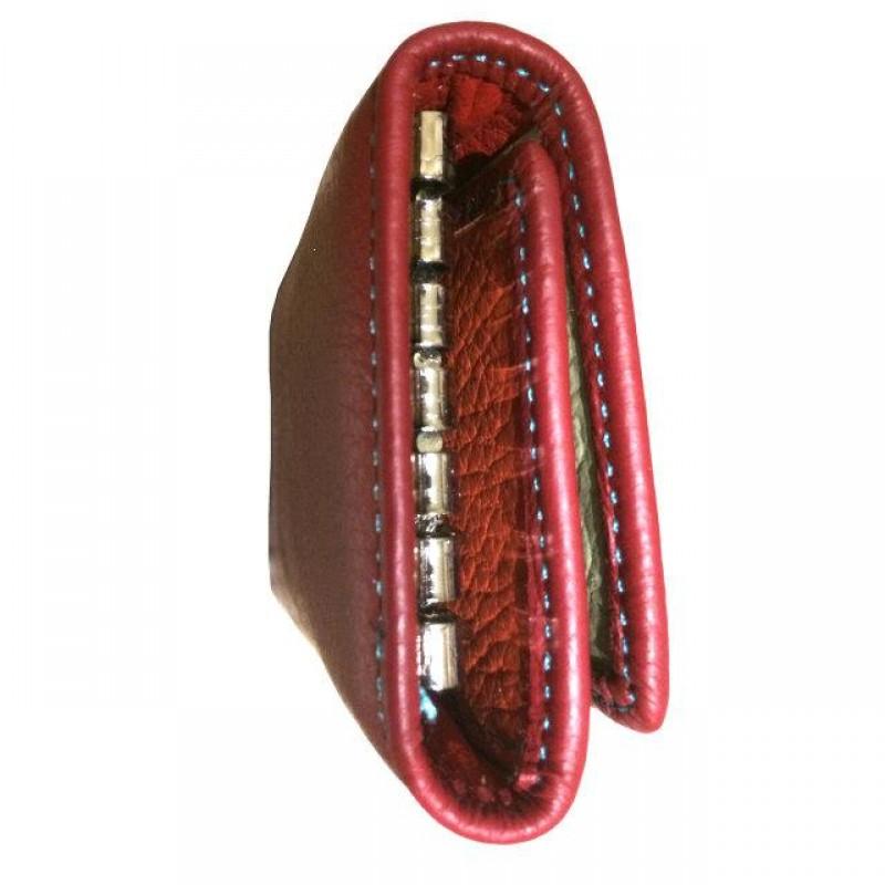 Женская кожаная ключница WKR-2 red