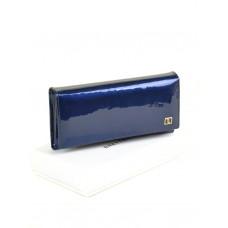 Женский лаковый кошелек Gold W0807 dark-blue