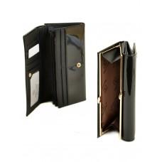 Женский лаковый кошелек Bretton W1 black