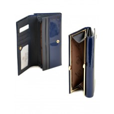 Женский лаковый кошелек Bretton W1 dark-blue