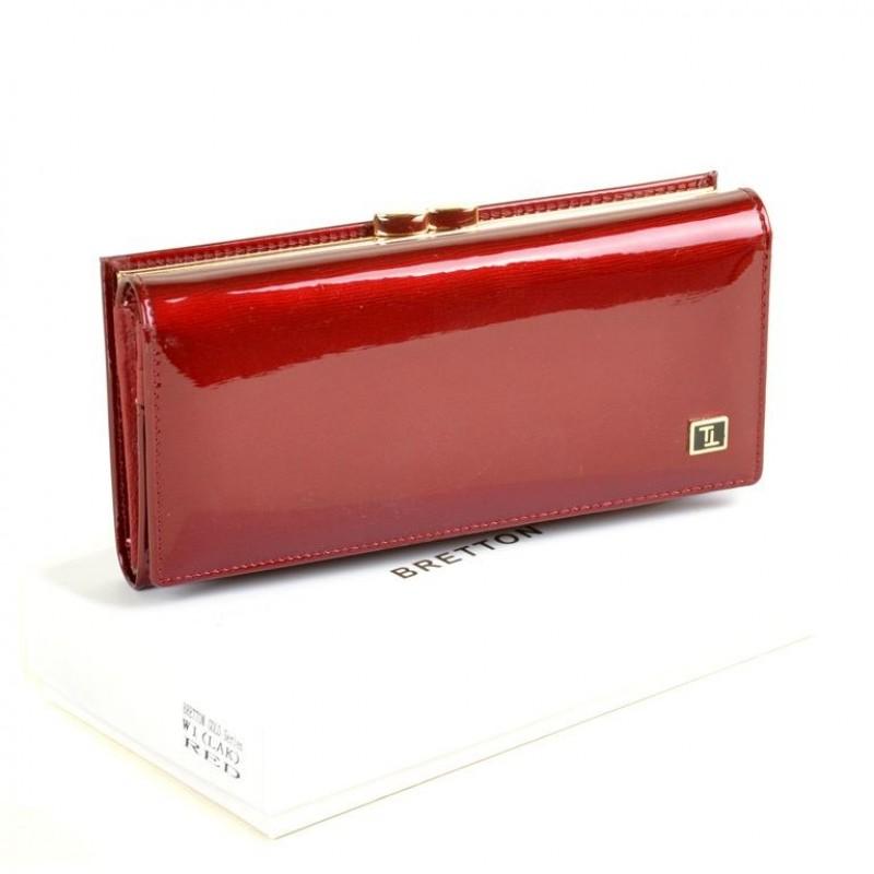 Женский лаковый кошелек Bretton W1 red