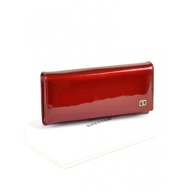 Женский лаковый кошелек Gold W0807 red