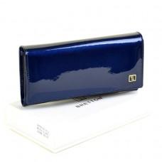 Женский лаковый кошелек Gold W501 dark-blue