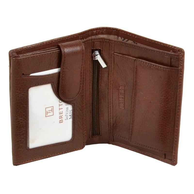 Мужской кошелек из натуральной кожи MS-26 coffee