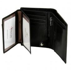 Мужской кожаный кошелек Softina MS-30 black