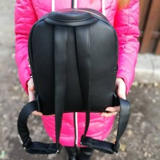 Черный рюкзак ручной работы PP-01-1