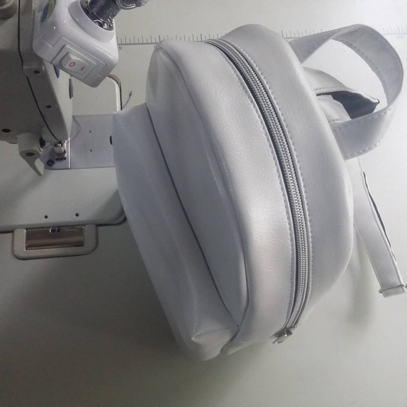 Белый рюкзак ручной работы PP-01-2