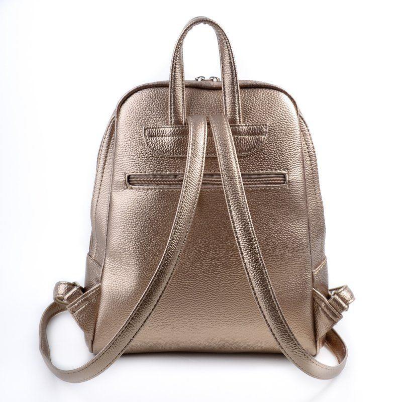 Женский золотистый рюкзак М134-69