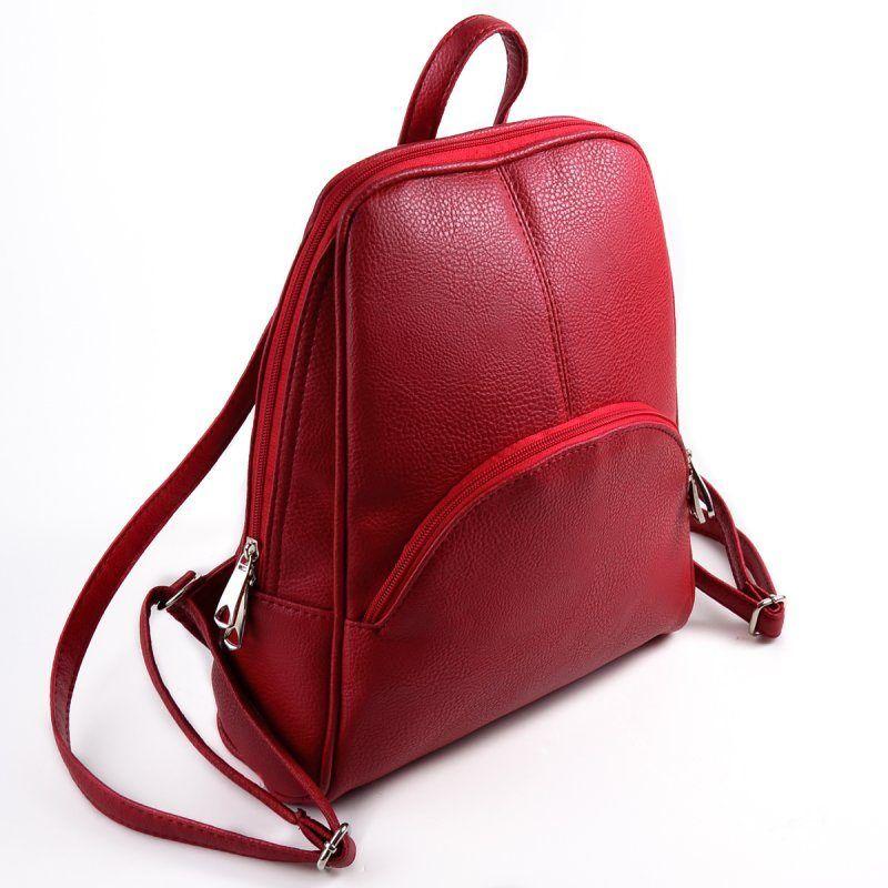 Женский красный рюкзак М134-68