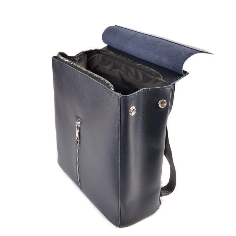 Женский кожаный рюкзак-трансформер М156 blue