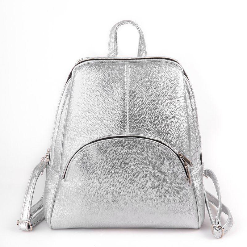 Женский серебристый рюкзак М134-72