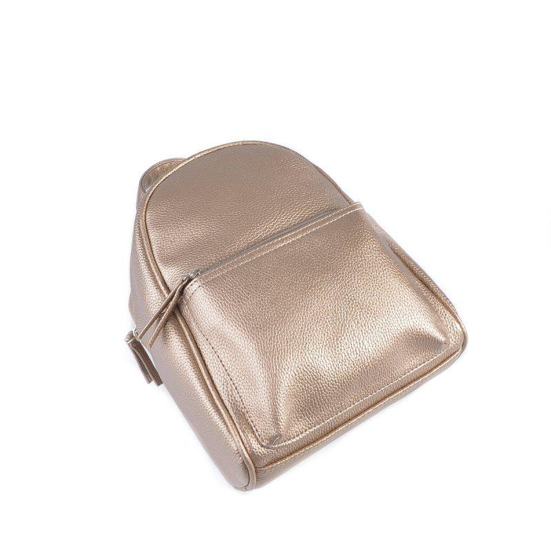 Женский золотистый рюкзак из эко-кожи М124-69
