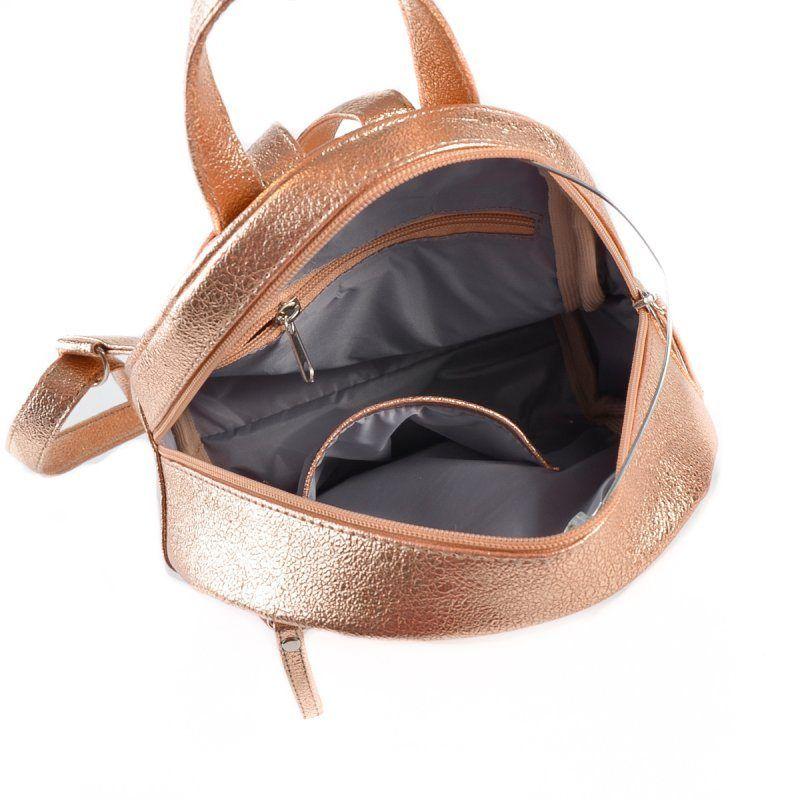 Женский золотистый рюкзак М124-89