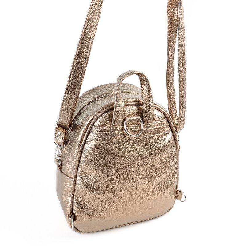 Женский золотистый рюкзак из экокожи М133-69