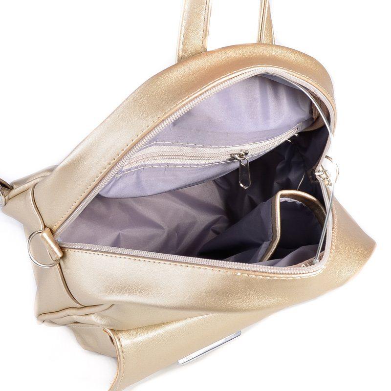 Женский золотистый рюкзак из экокожи М133-95