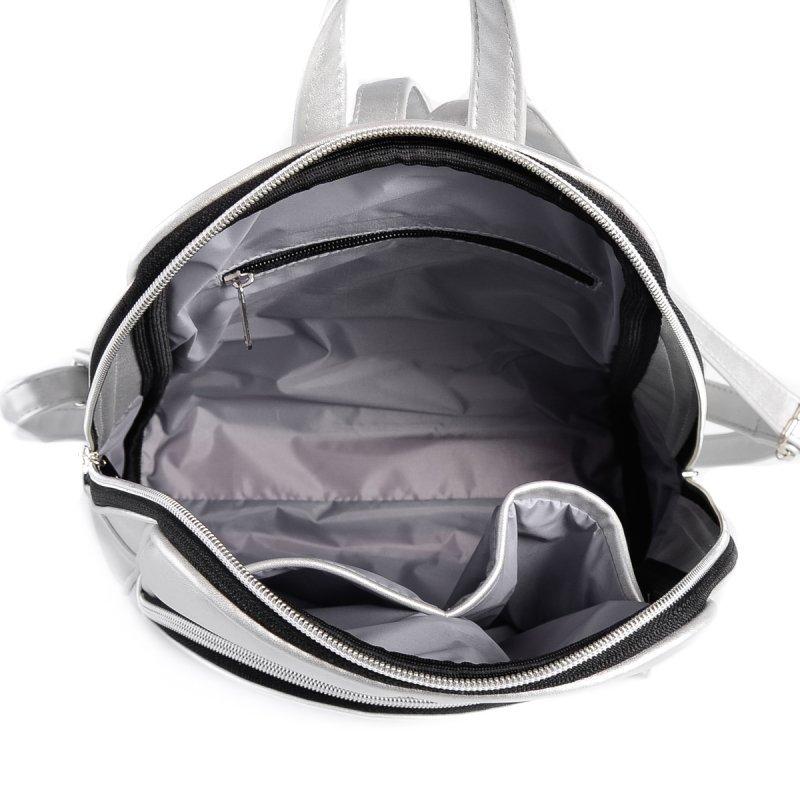 Женский серебристый рюкзак М134-98