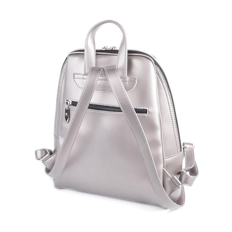 Серебристый женский рюкзак М207-76