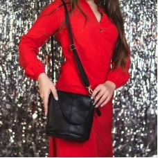 Женская кожаная сумка через плечо М 246 black