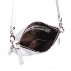 Женская кожаная сумка через плечо М 246 white