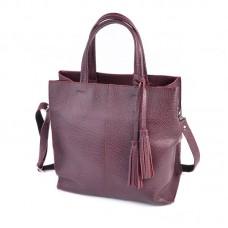 Женская кожаная сумка М243 бордо