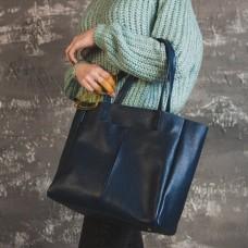 Женская сумка из натуральной кожи М244 blue
