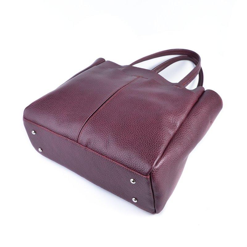 Женская сумка из натуральной кожи М244 бордо