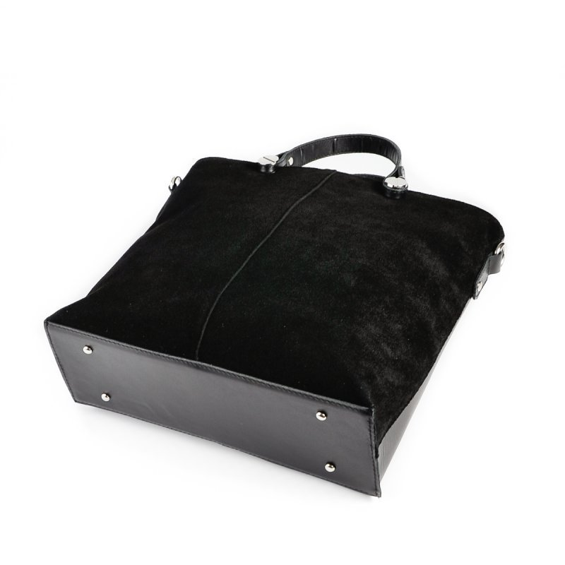 Женская сумка из натуральной кожи и замши М73-н/замш