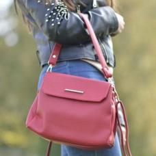 Женская красная сумочка на плечо М126-68