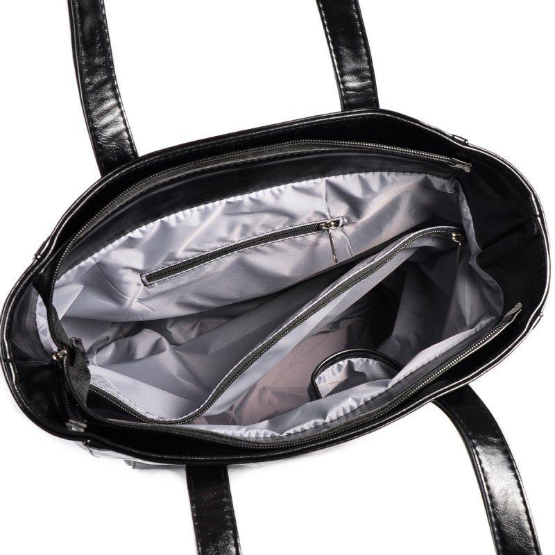 Женская сумка-шопер М165-Z/лак