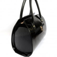 Замшевая каркасная сумка М62-лак/замш/Z