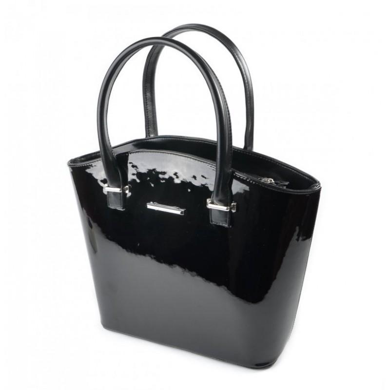 Женская лаковая сумка М64-лак чорн./Z