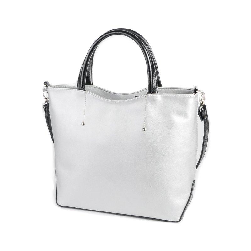 Женская серебристая сумка из кожзама М75-98/Z
