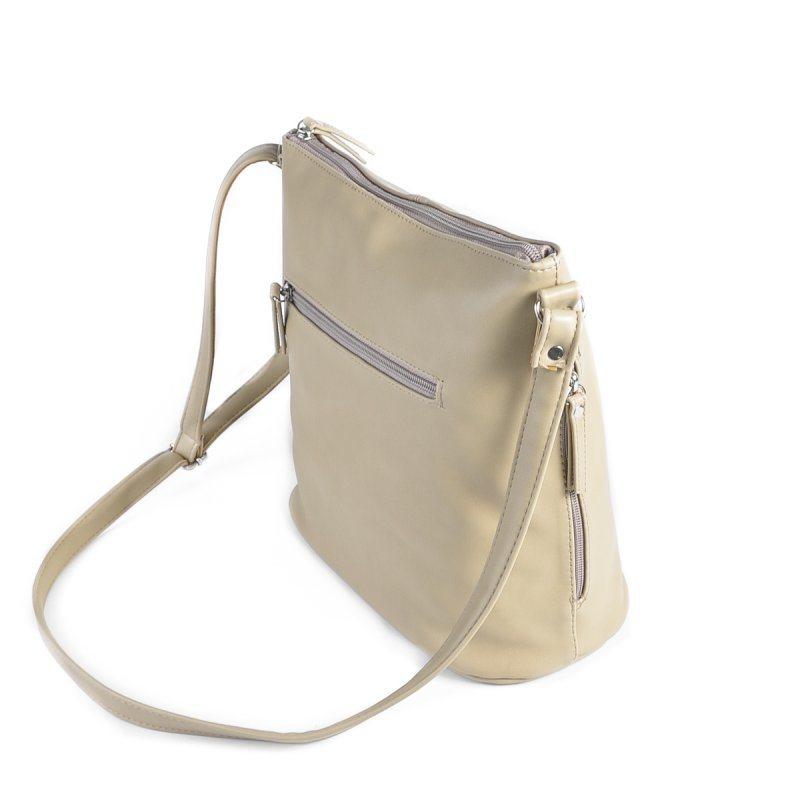 Бежевая сумка на плечо М78-83