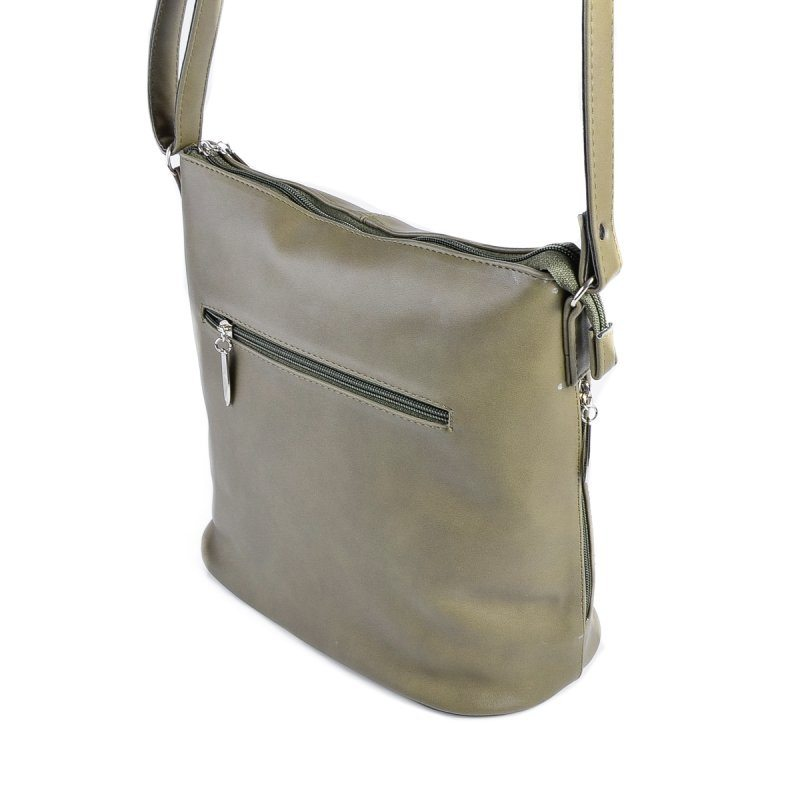 Оливковая сумка на плечо М78-96