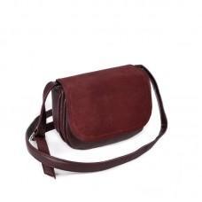 Женская сумочка с замшевым клапаном М55-38/замш