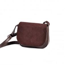 Женская сумочка с замшевым клапаном М55-40/замш