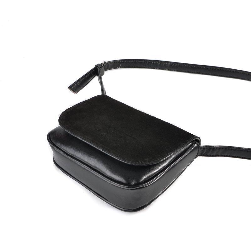 Женская сумочка с замшевым клапаном М55-33/замш