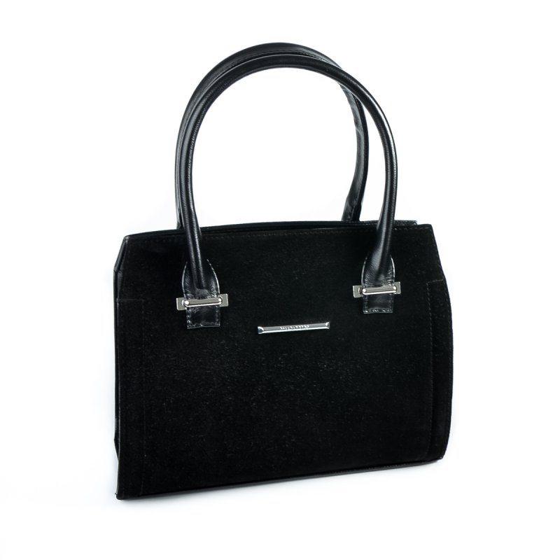 Замшевая каркасная сумка М68-Z/замш